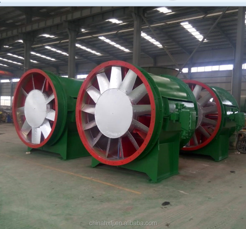 Explosion Proof underground inflammable dust gas exhaust reversable impellers large mine ventilation fan