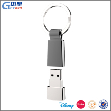 Promotional gift USB 2.0 PU keychain usb flash drive with custom logo