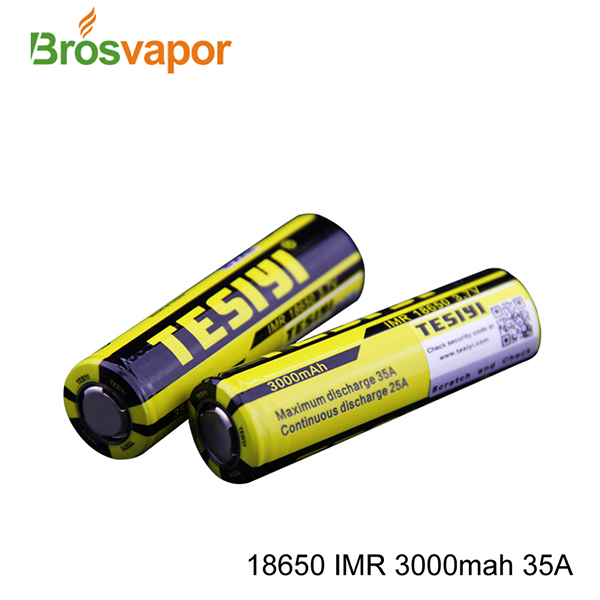 Wholesale TESIYI battery AAA 18650 3000mah 35A ICR battery Rechargeable lithium battery
