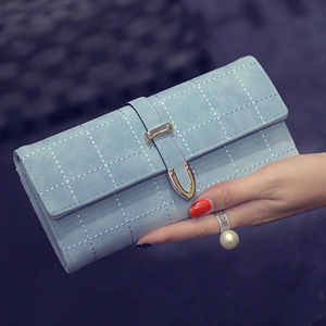 Arrow Wallet 2018 New Retro Embroidered Line Square Ladies Clutch Bag Girl Wallet Leather Wallet Women