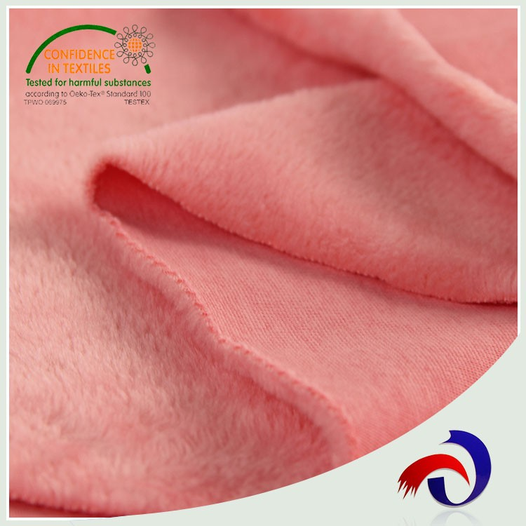 Pink super soft single brush polyester korea mirco velvet fabric wholesale