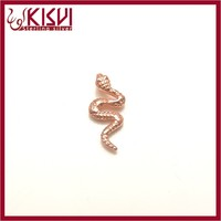 Rose gold snake sterling silver 925 pendant with Good quality kisvi silver factory