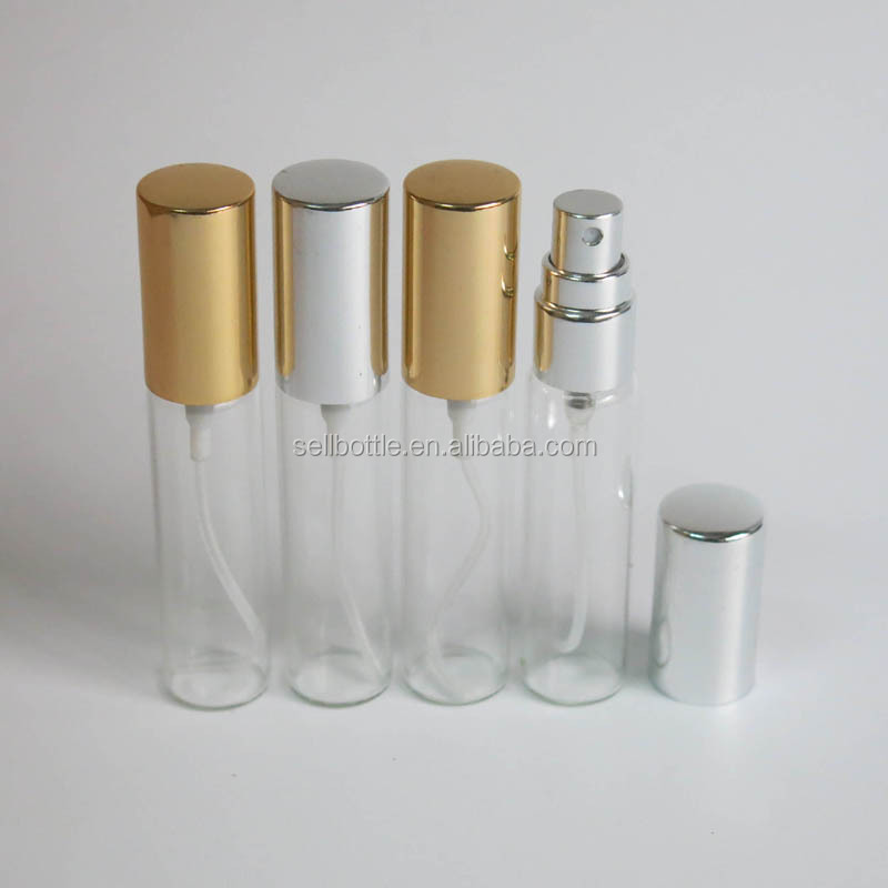 Refillable Small 5ml Perfume Spray Glass Bottle Empty 10ml Fancy Clear Fragrance Glass Bottle Perfume For Travel