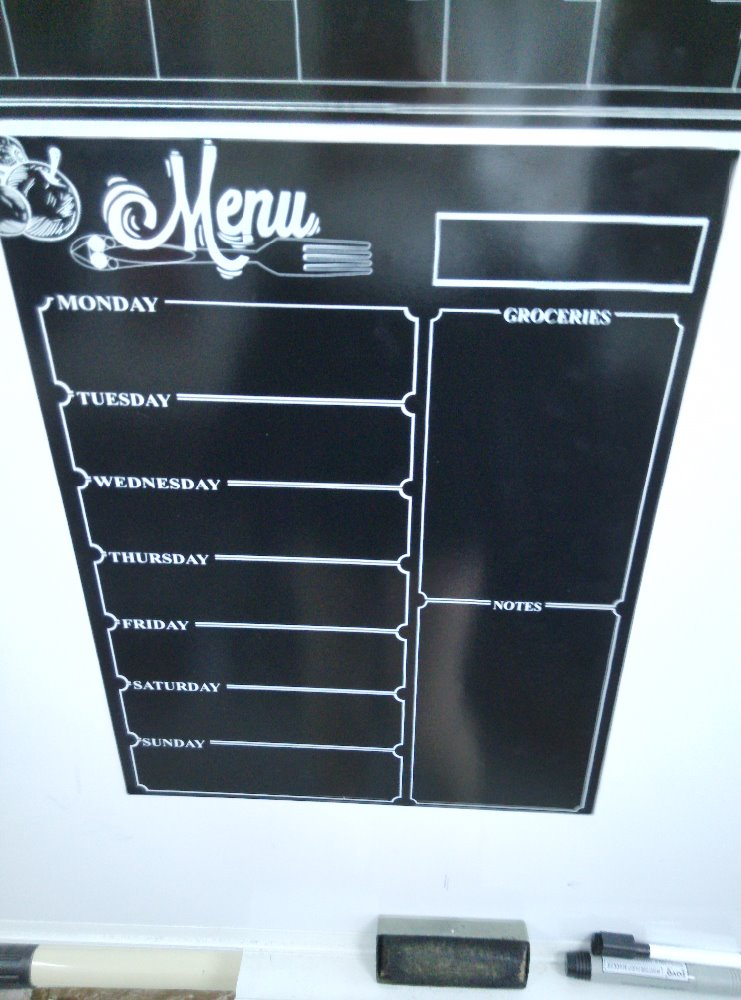 Weekly Magnetic Dry Erase Fridge Magnet Whiteboard Menu Planner 30 Mil Thicker Magnet Used As Planner Calendar