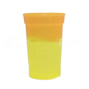 Promotion custom 16oz Color Change Cups Plastic Stadium Cup