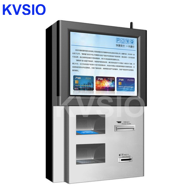 China Factory Promotion customized self service wall mounted kiosk all-in-one custom logo print pc internet payment kiosks