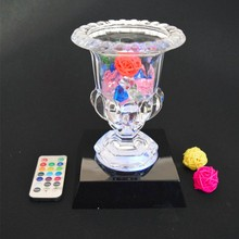 LED Kaca Trophy/Crystal Display Dasar Cahaya Dengan Remote Control