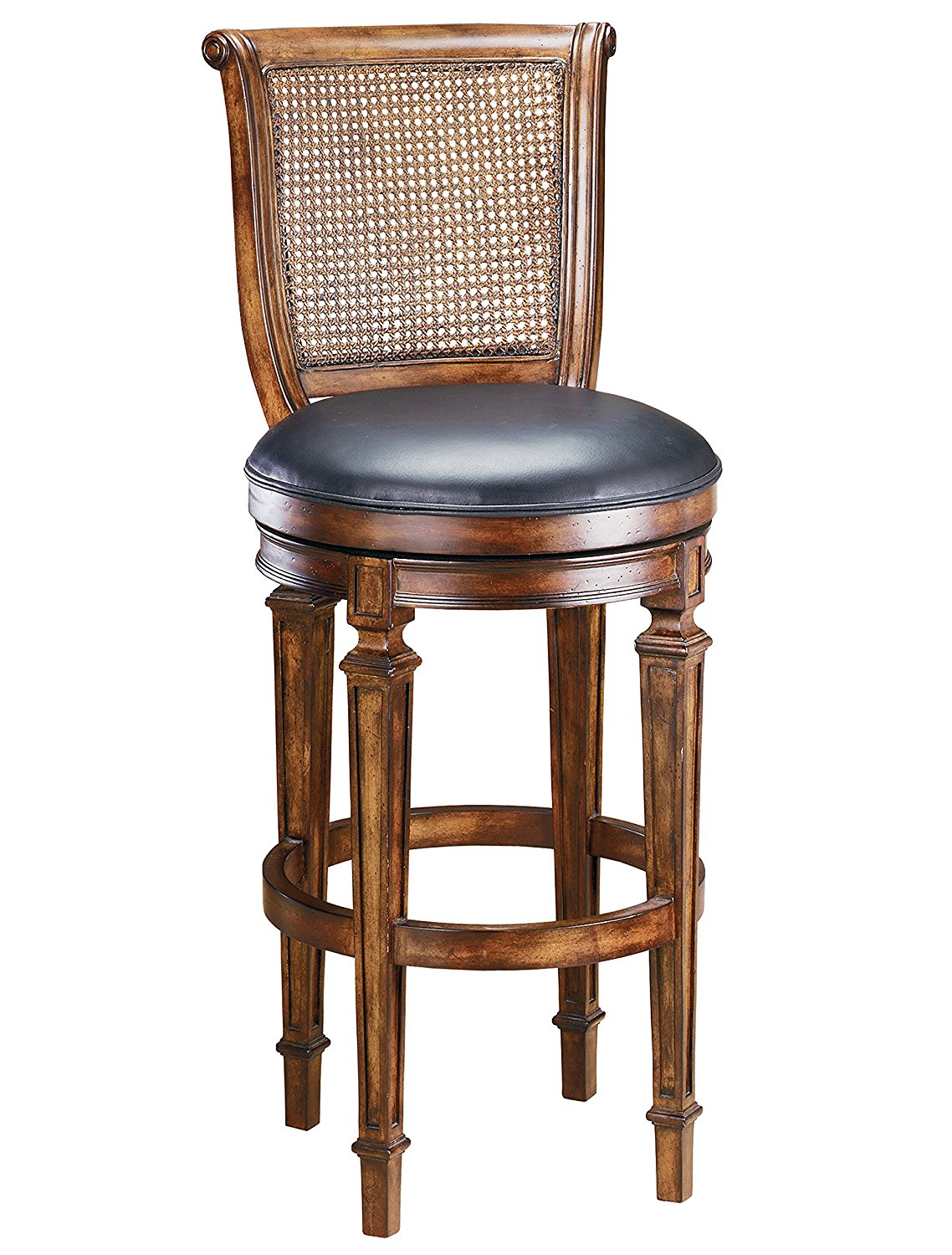 Hillsdale 61909 Dalton Cane Back Bar Stool, Distressed Cherry Finish