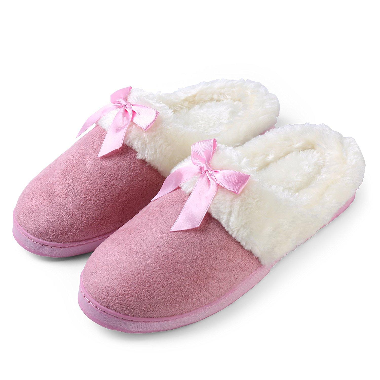 ff7330b9e1c3 Get Quotations · House Home Comfy Plush Fluffy Cozy Dreamer Non-Slip Slip-On  Slippers