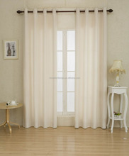 Solid White Faux Linen Curtain Suitable for All Types of Office Window Curtain