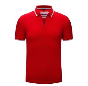 Blank Custom   Golf Polo T Shirt Wholesale Pique Embroidery Zip  Polo Shirt Men