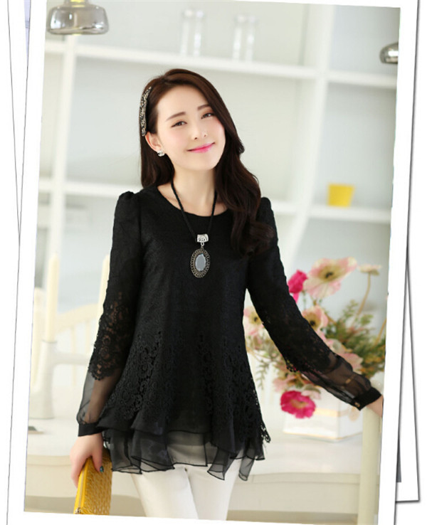 GO World New Women Floral Lace Sexy Top Short Sleeve Blouse Crew Neck T-shirt M~XXL