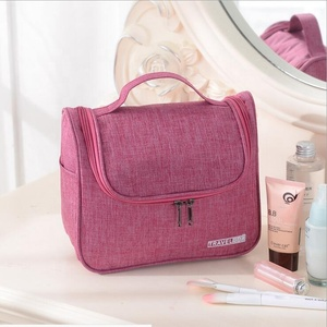 Wholesale 2018 New Designer Waterproof Cations Oxford Pink Folding Travel  Hanging Cosmetic Makeup Bag with 2 72753e7f6d392