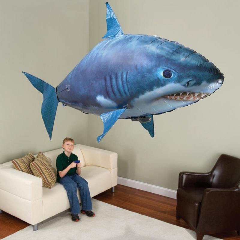 Hot sale Flying Remote Control Inflatable Fish Shark Blimp Balloon Children's Day Gift Halloween Party funny Holiday Party
