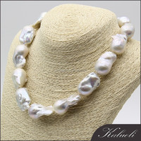 Hot sale good quality 16-20mm big baroque freshwater pearl necklace