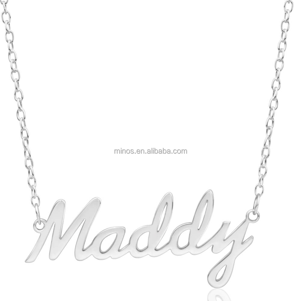 detail sterling cz product letter alphabet r necklace silver cursive