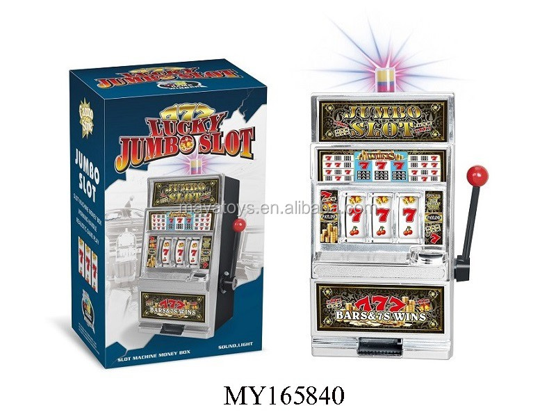 Wholesale piggy bank children's toy slot game machine with music