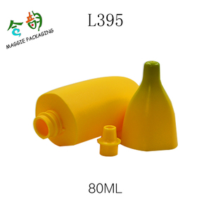 Banana Gel Bottle fruit shaped soothing gel container Empty Korea Cosmetic PET Lotion Bottle with screw cap