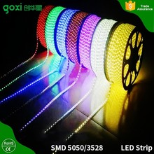 High bright 100m/roll led strip light 220-240v waterproof 2835 led strip RGB for outdoor