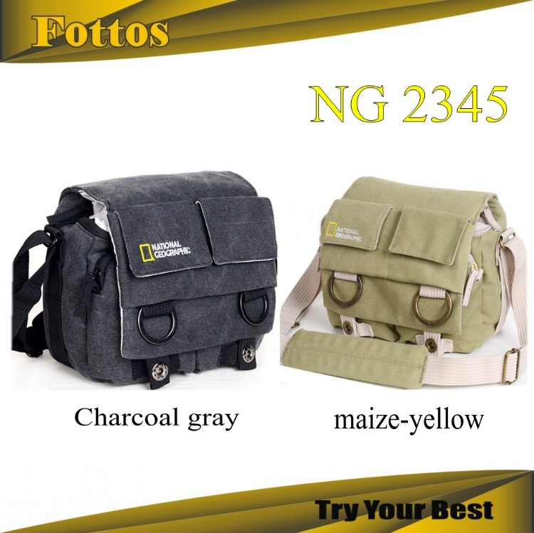 NATIONAL GEOGRAPHIC NG2345 Professional DSLR Canvas Camera Bag/Case Travel Photo Bag Single Shoulder Shoulder Bag for Canon Niko