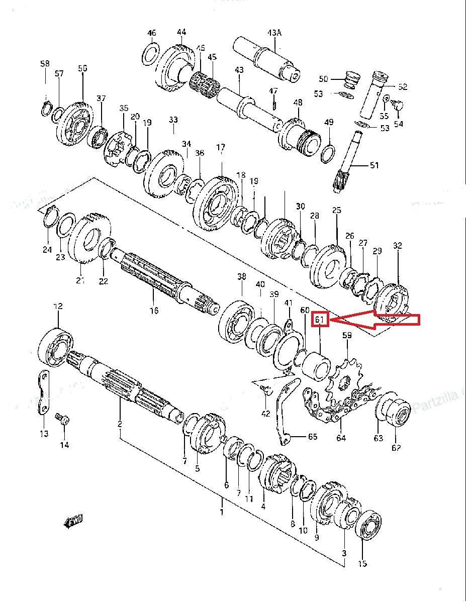 Get Quotations · Suzuki Transmission Spacer for LT230S / LT250S  PN-27531-22A00
