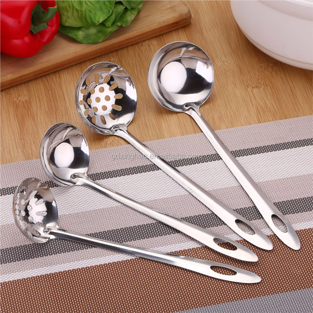 Chinese Supplier stainless steel cooking slotted spoon kitchen spoon