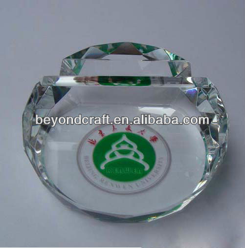 Shining crystal facet place card holder for corporation gifts