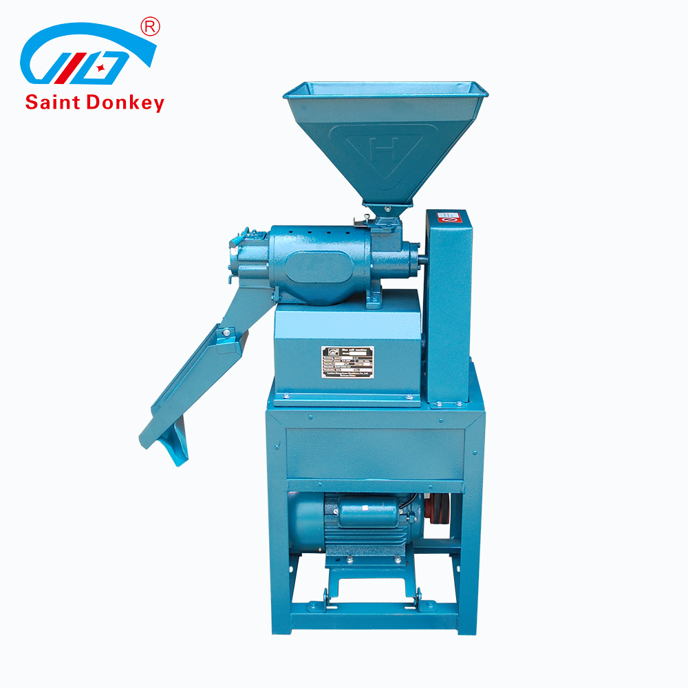Family using hot sale rice mill machine