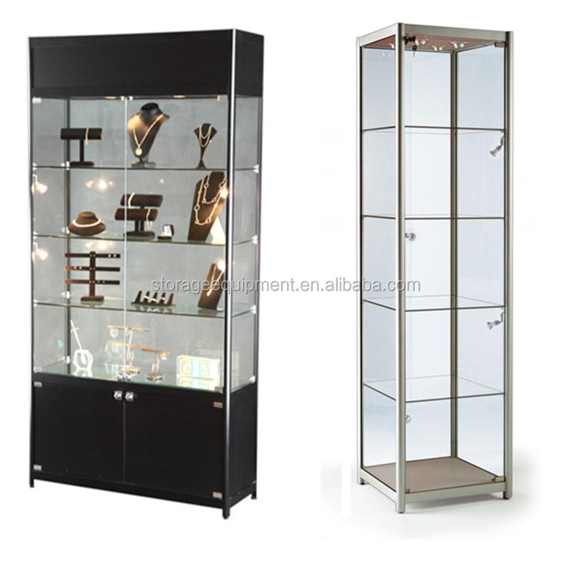 Modern Silver Gl Display Cabinet