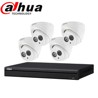 Dahua Security Camera System 8POE NVR2108HS-8P-S2 4MP IP Camera Kit CCTV Camera Waterproof IPC-HDW4433C-A