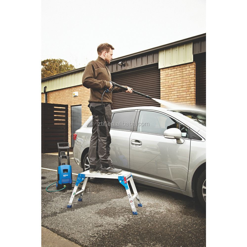 Aluminum Step Stool Platform For Washing Car Aluminium