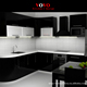 2016 hot sales high gloss lacquer kitchen cabinets Black colour modern kitchen furnitures pantry