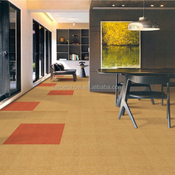 Solid Color Sd Nylon Carpet Tile Fire Resistance For Office