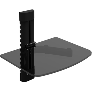 Wall mount dvd rack with thick tempered glass DVD101S