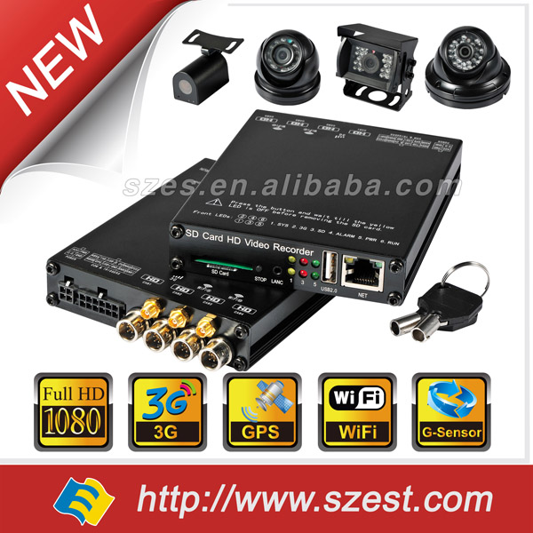 High Definition MDVR System 4CH WIFI G-Sensor GPS 3G 4G 1080P mini DVR 4ch Audio Video 3G GPS Vechile Fleet Management