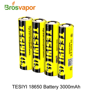 High quality TESIYI ICR 18650 3000mah/3500mah 45A high rate Li-ion vape battery pank in stock