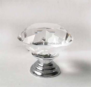 40mm Heldere Diamant Vorm Kristal Glazen Deur Kast Lade Pull Handvat Kast Meubelen Knop Buy Knopkristal Knopdiamant Vorm Kristal Glas Knop Product
