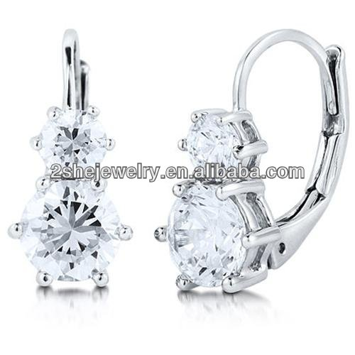 High Quality Fashion sterling silver leverback earrings