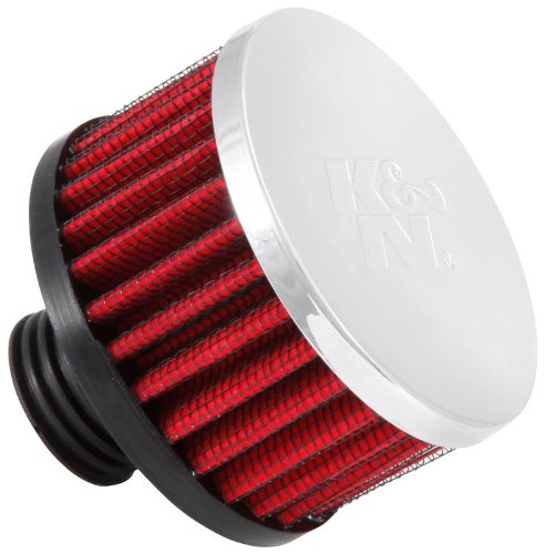 K&N 62-1495 Vent Air Filter / Breather: Vent Air Filter/ Breather; 0.5 in (13 mm) Flange ID; 1.75 in (44 mm) Height; 3 in (76 mm) Base; 3 in (76 mm) Top