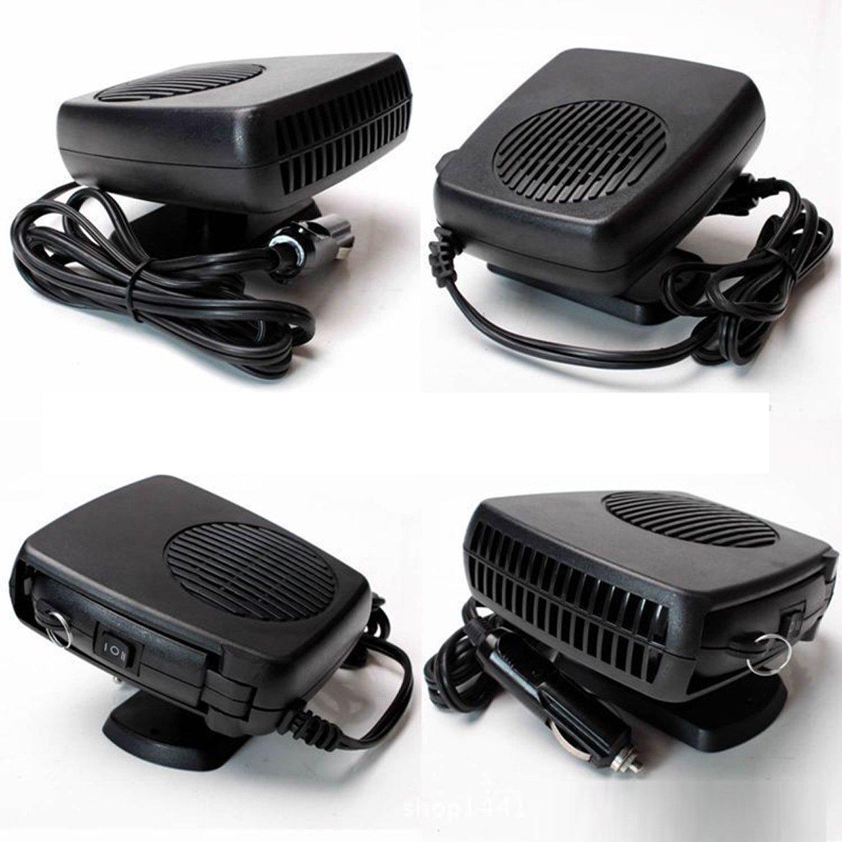 Black Portable Car Heater Defroster 12V 150W Vehicle Cooling Fan Window Demister Windshield Fast Heating Defroster