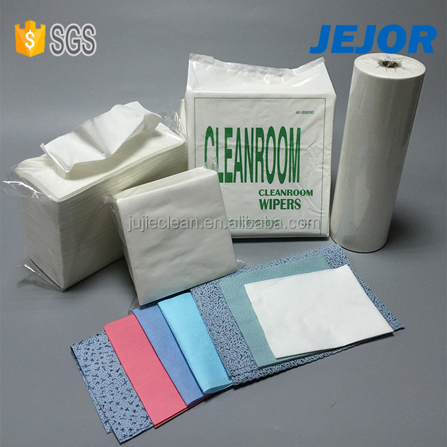 for industrial use oil absorbent embossed Cellulose Polyester Paper Cleanroom Wipes
