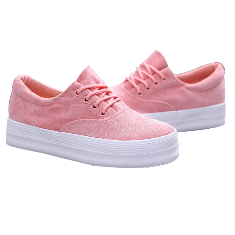 Canvas Sneakers Women Platform Shoes Casual Women Shoes Fashion 2015 Zapatos Mujer Plataforma Brands shoe Woman  DX2905