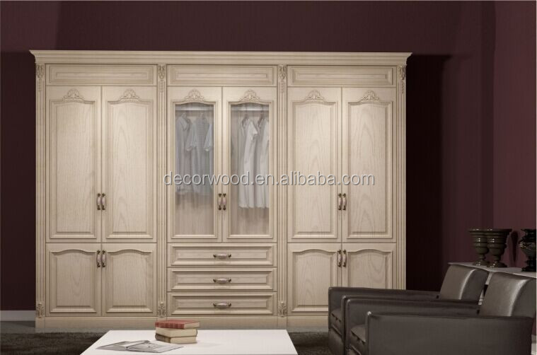 Wooden french style ivory/cream bedroom wardrobe armoire