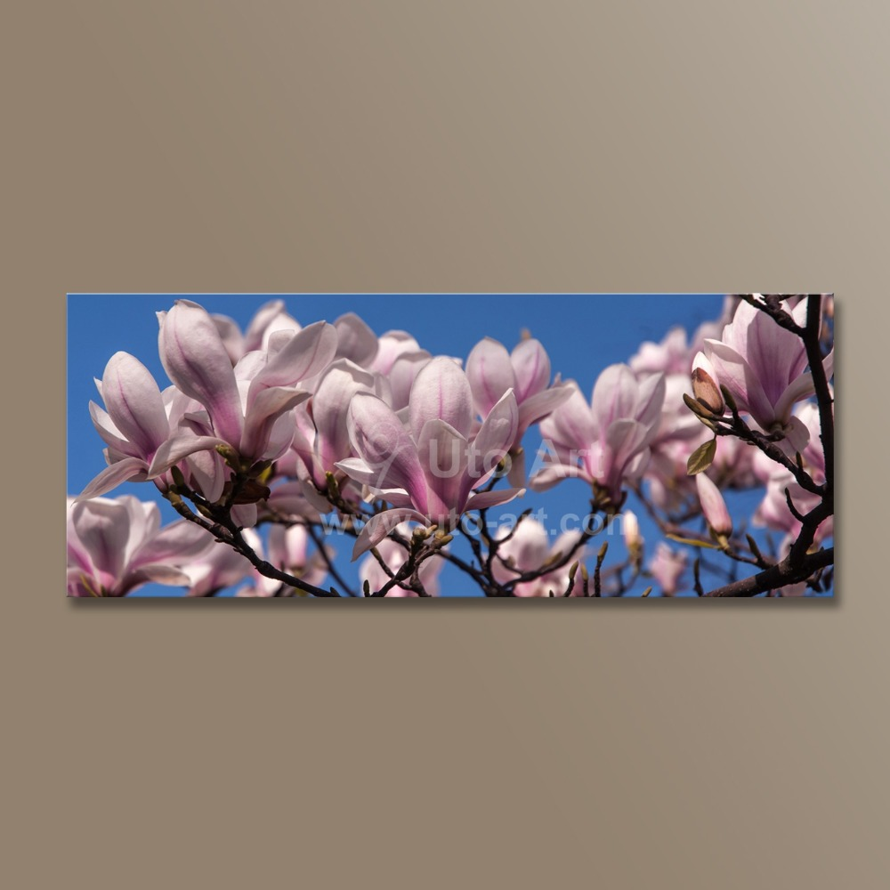 Modern Home Decor Canvas Painting Cherry Flower Large 3 Piece Wall Art Picture Modular Patterns on the Wall for Bedroom Decor
