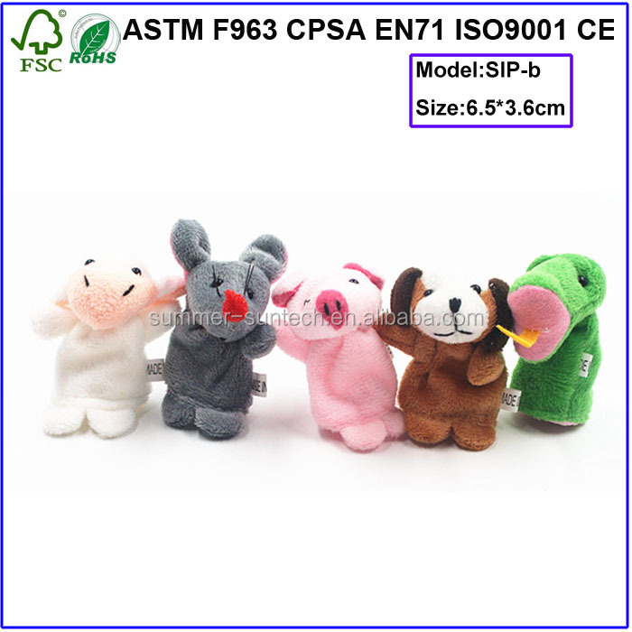 OEM new product manufacturer soft toy animals plush finger puppet