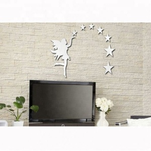 Popular Halloween Party Wall Self Adhesive Mirror Decoration Sticker