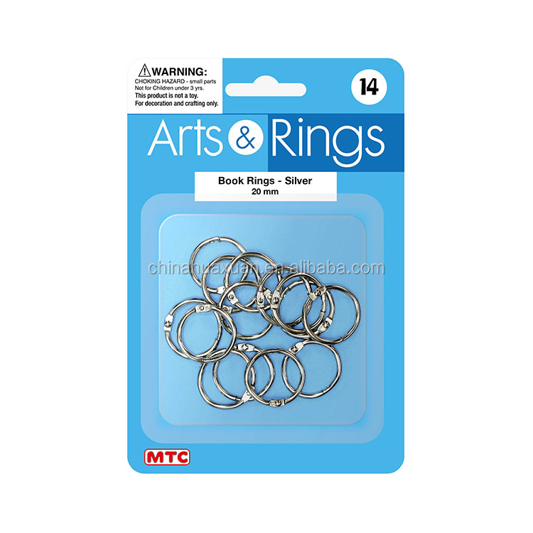 wholesale quality office supply metal book binding ring, crad ring, 2cm-6cm