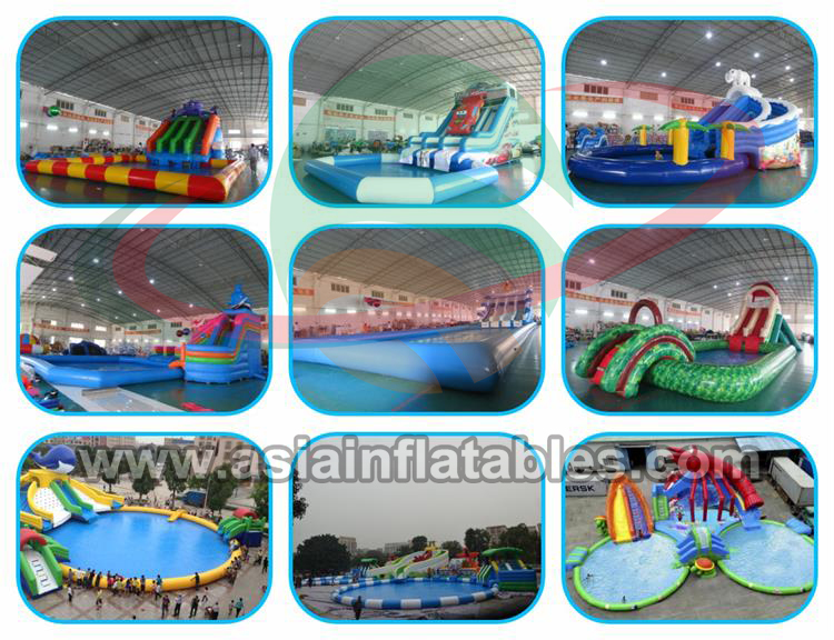 Inflatable swimming pools with tent , PVC water pool with cover for water park