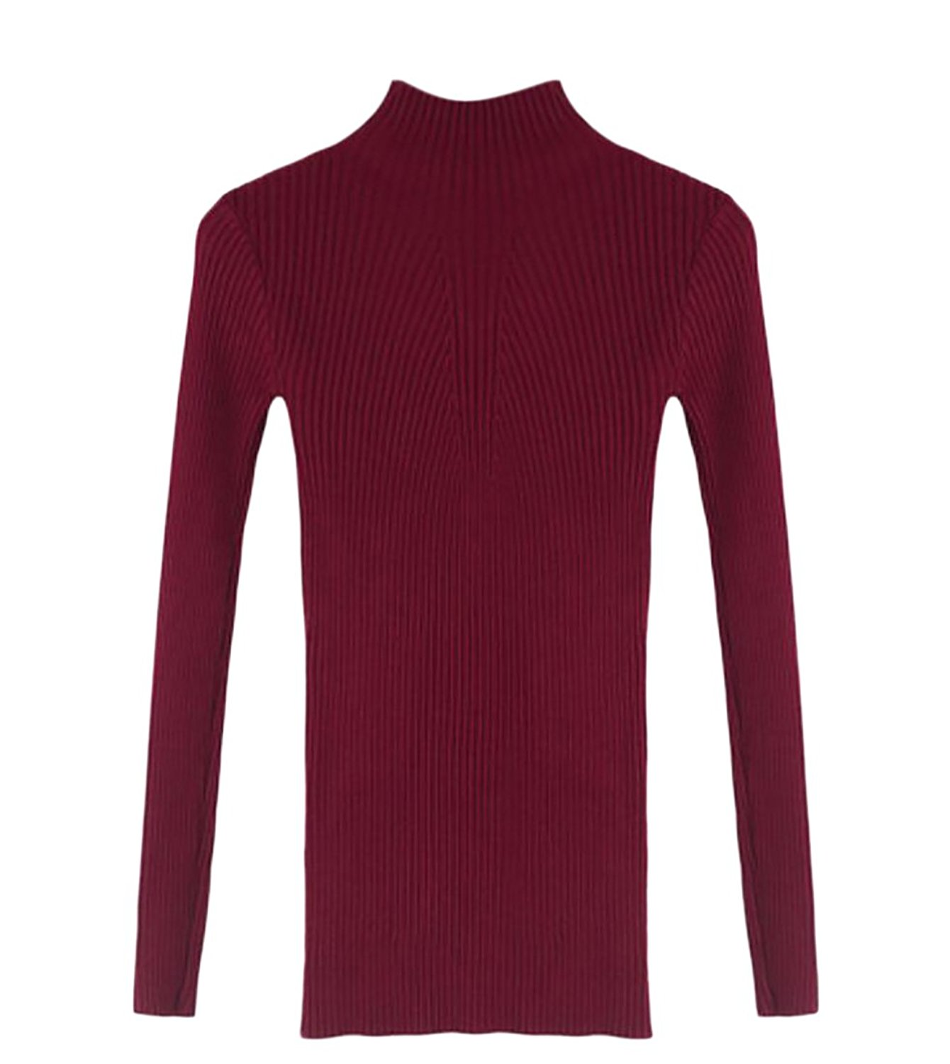 UUYUK Womens Turtle Neck Solid Long Sleeve Slim Fit Knit Autumn Sweater