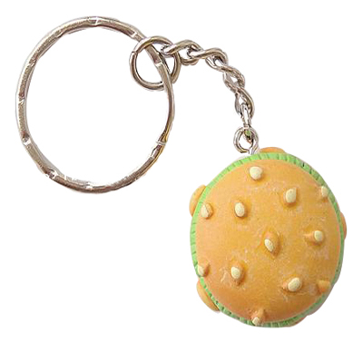 Hot Style Hamburger Shaped Popular Sale Key Chain Parts